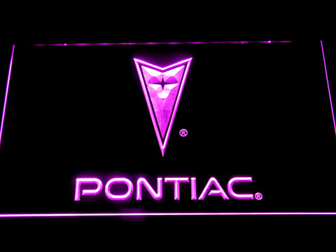 Image of Pontiac LED Neon Sign - Purple - SafeSpecial