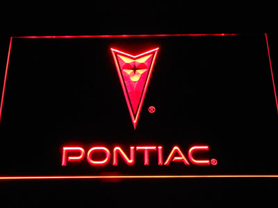 Pontiac LED Neon Sign - Red - SafeSpecial