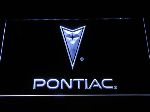 Image of Pontiac LED Neon Sign - White - SafeSpecial