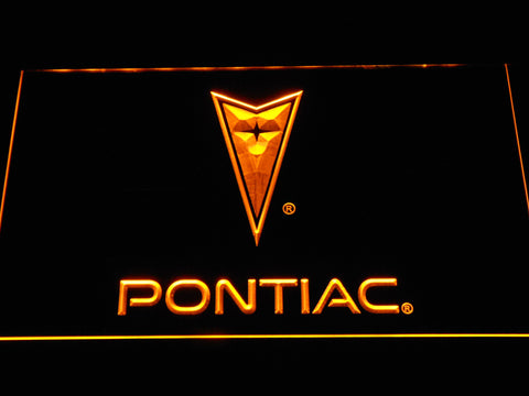 Image of Pontiac LED Neon Sign - Yellow - SafeSpecial