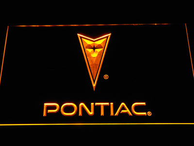 Pontiac LED Neon Sign - Yellow - SafeSpecial