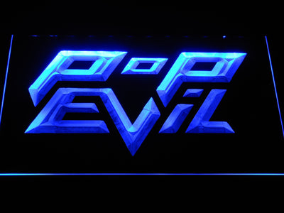 Pop Evil LED Neon Sign - Blue - SafeSpecial