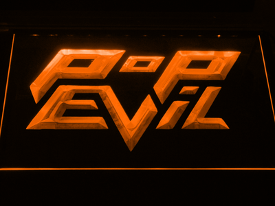 Pop Evil LED Neon Sign - Orange - SafeSpecial