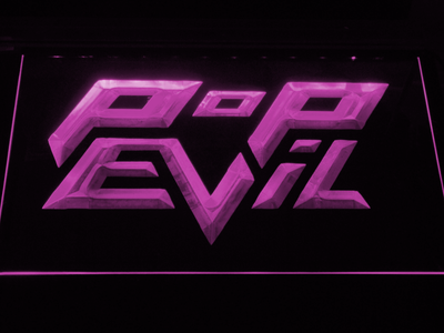 Pop Evil LED Neon Sign - Purple - SafeSpecial