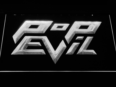 Pop Evil LED Neon Sign - White - SafeSpecial