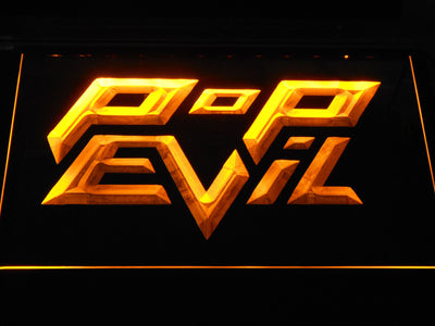 Pop Evil LED Neon Sign - Yellow - SafeSpecial