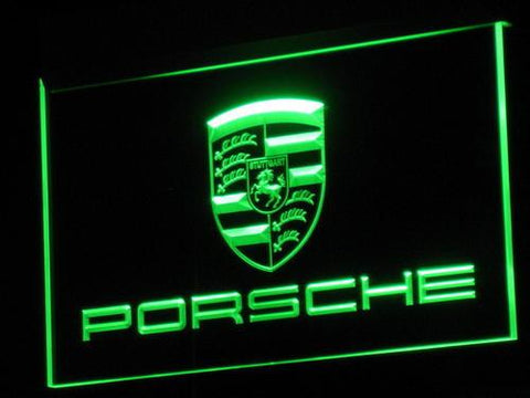 Image of Porsche LED Neon Sign - Green - SafeSpecial