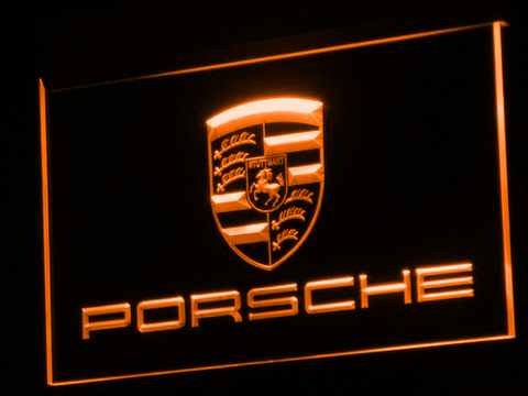 Image of Porsche LED Neon Sign - Orange - SafeSpecial