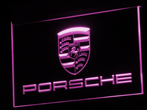 Porsche LED Neon Sign - Purple - SafeSpecial