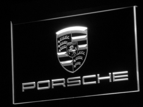 Porsche LED Neon Sign - White - SafeSpecial