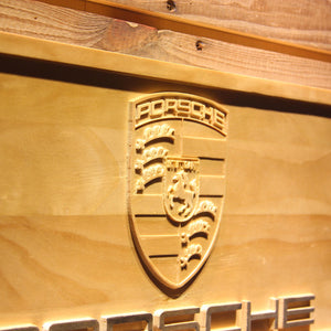 Porsche Wooden Sign - - SafeSpecial