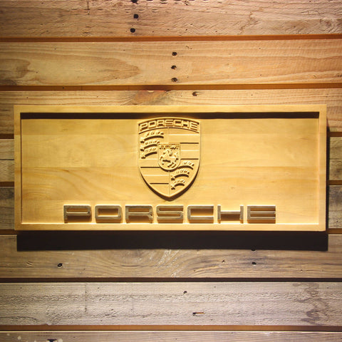 Image of Porsche Wooden Sign - Small - SafeSpecial