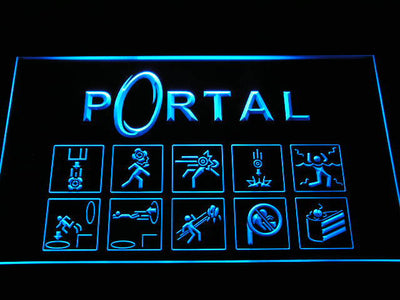 Portal LED Neon Sign - Blue - SafeSpecial