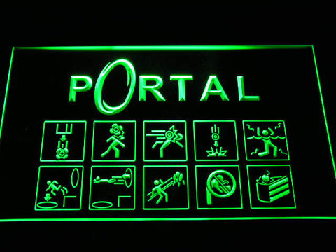 Image of Portal LED Neon Sign - Green - SafeSpecial