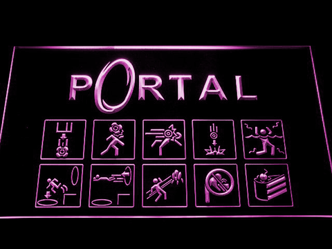Image of Portal LED Neon Sign - Purple - SafeSpecial