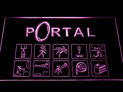 Portal LED Neon Sign - Purple - SafeSpecial
