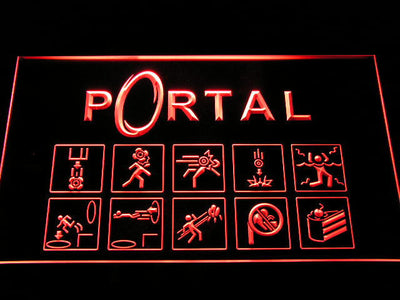 Portal LED Neon Sign - Red - SafeSpecial