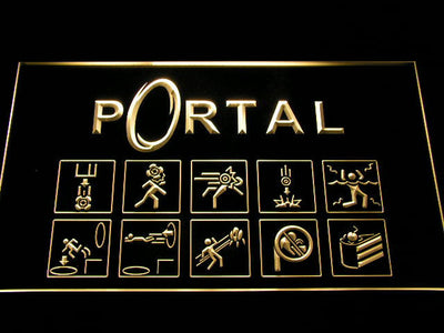 Portal LED Neon Sign - Yellow - SafeSpecial
