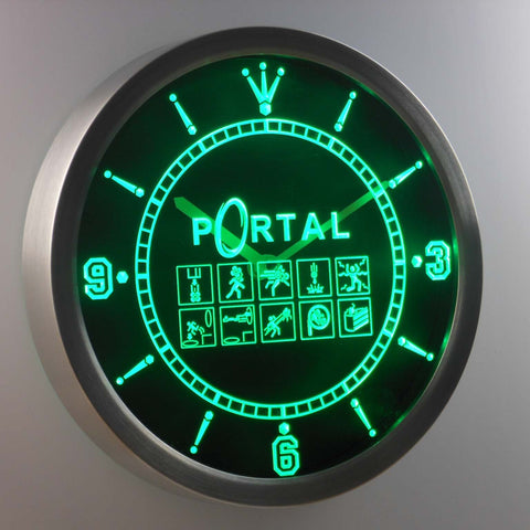 Image of Portal LED Neon Wall Clock - Green - SafeSpecial