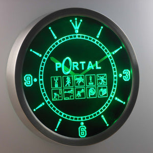 Portal LED Neon Wall Clock - Green - SafeSpecial