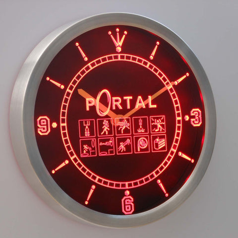 Image of Portal LED Neon Wall Clock - Red - SafeSpecial