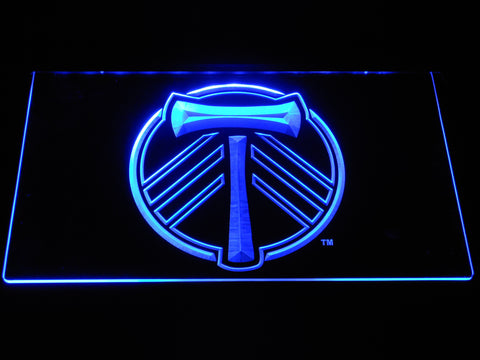 Portland Timbers LED Neon Sign - Blue - SafeSpecial