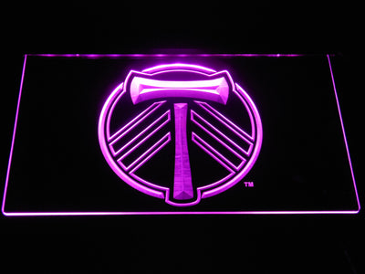 Portland Timbers LED Neon Sign - Purple - SafeSpecial