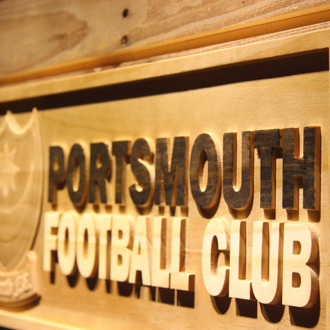 Image of Portsmouth Football Club Wooden Sign - Legacy Edition - - SafeSpecial