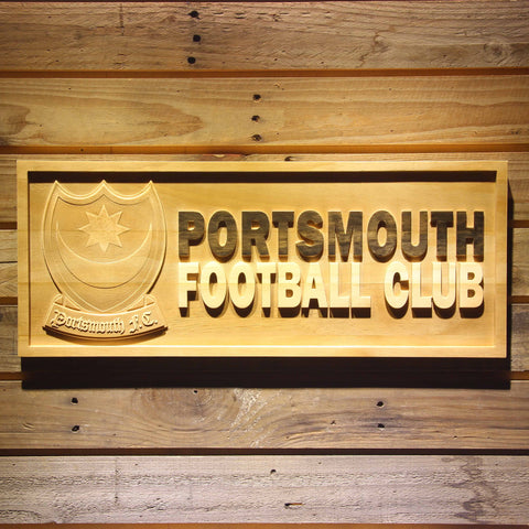 Portsmouth Football Club Wooden Sign - Legacy Edition - Small - SafeSpecial
