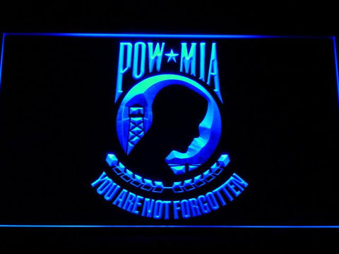 Image of POW MIA LED Neon Sign - Blue - SafeSpecial