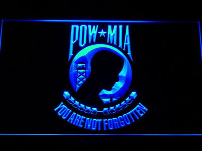 POW MIA LED Neon Sign - Blue - SafeSpecial
