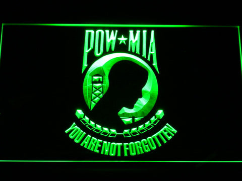 Image of POW MIA LED Neon Sign - Green - SafeSpecial