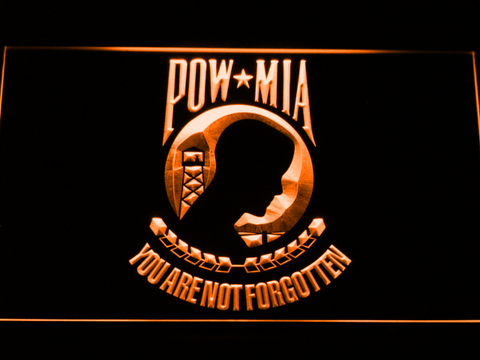 Image of POW MIA LED Neon Sign - Orange - SafeSpecial
