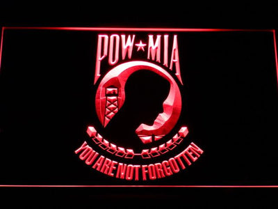 POW MIA LED Neon Sign - Red - SafeSpecial