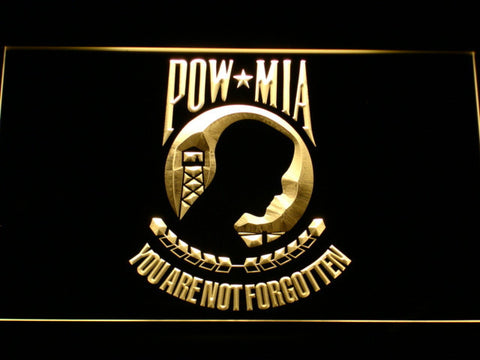 Image of POW MIA LED Neon Sign - Yellow - SafeSpecial