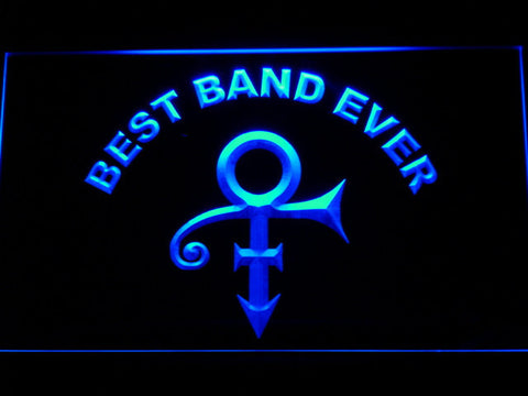 Prince Best Band Ever LED Neon Sign - Blue - SafeSpecial