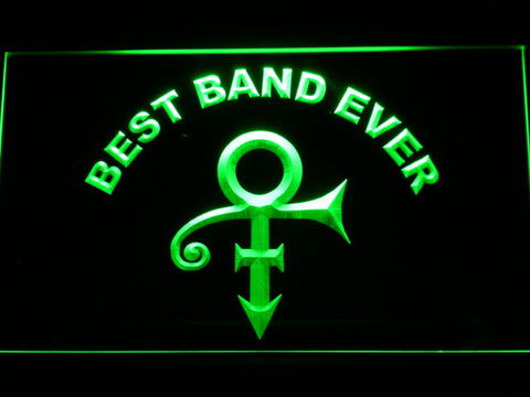 Prince Best Band Ever LED Neon Sign - Green - SafeSpecial