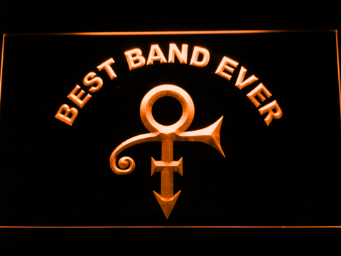 Prince Best Band Ever LED Neon Sign - Orange - SafeSpecial