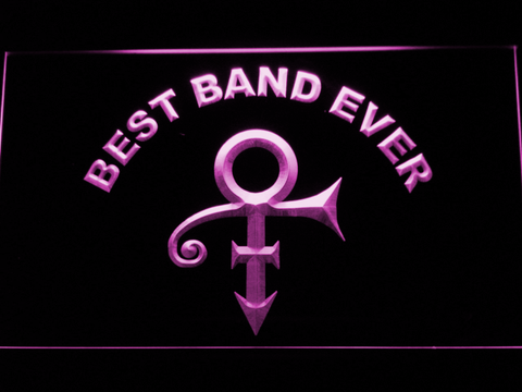 Prince Best Band Ever LED Neon Sign - Purple - SafeSpecial