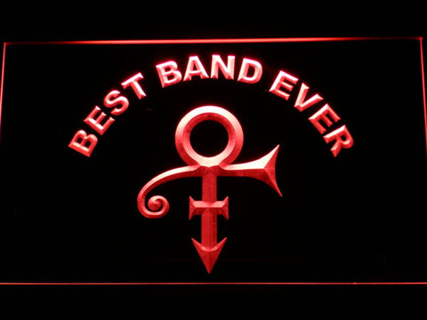 Prince Best Band Ever LED Neon Sign - Red - SafeSpecial