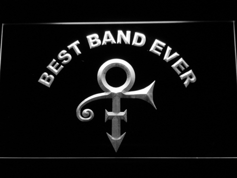 Prince Best Band Ever LED Neon Sign - White - SafeSpecial