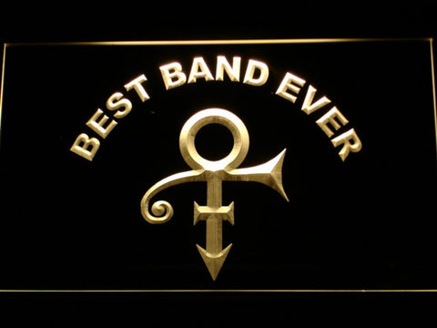 Prince Best Band Ever LED Neon Sign - Yellow - SafeSpecial