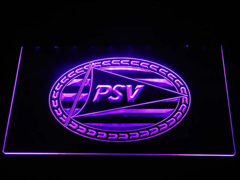Image of PSV Eindhoven LED Neon Sign - Purple - SafeSpecial