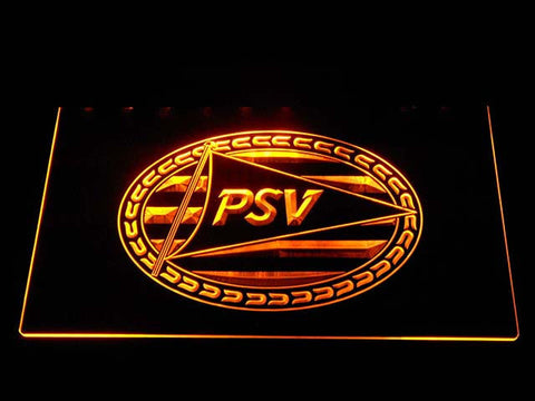 Image of PSV Eindhoven LED Neon Sign - Yellow - SafeSpecial