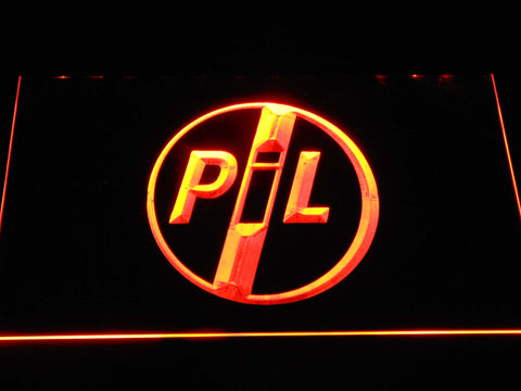 Image of Public Image Ltd LED Neon Sign - Orange - SafeSpecial