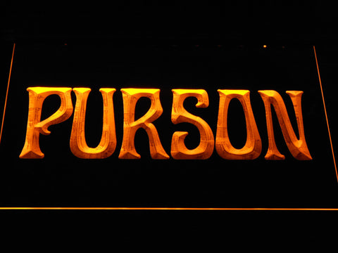 Image of Purson LED Neon Sign - Yellow - SafeSpecial