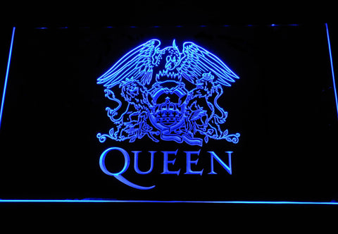 Queen LED Neon Sign - Blue - SafeSpecial