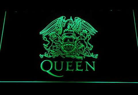Queen LED Neon Sign - Green - SafeSpecial