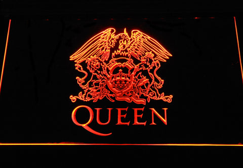 Queen LED Neon Sign - Orange - SafeSpecial