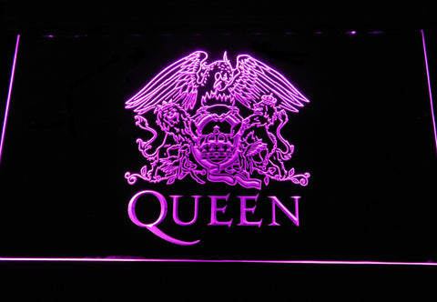 Queen LED Neon Sign - Purple - SafeSpecial